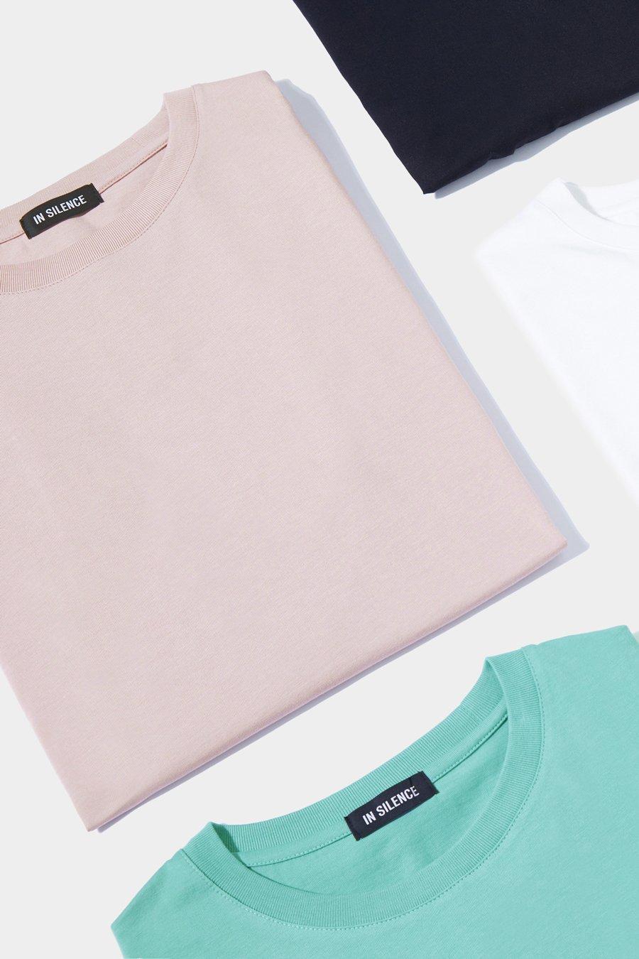 인사일런스(IN SILENCE) 수피마 코튼 티셔츠 BLACK