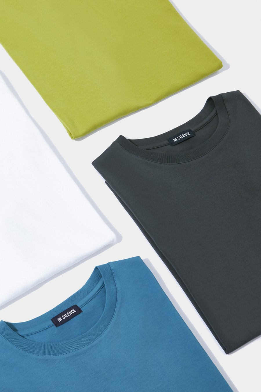 인사일런스(INSILENCE) 수피마 코튼 티셔츠 TEAL BLUE