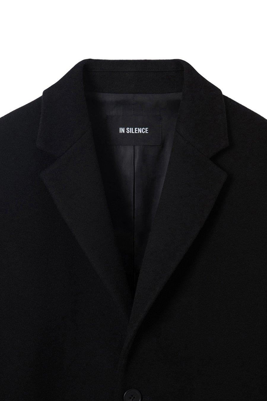 인사일런스(IN SILENCE) 솔리스트 캐시미어 코트 BLACK