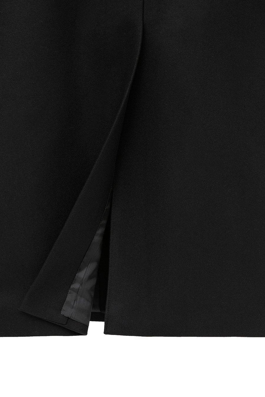 인사일런스(IN SILENCE) [BLACK LABEL] MTR 프리미엄 더블 브레스티드 코트 BLACK