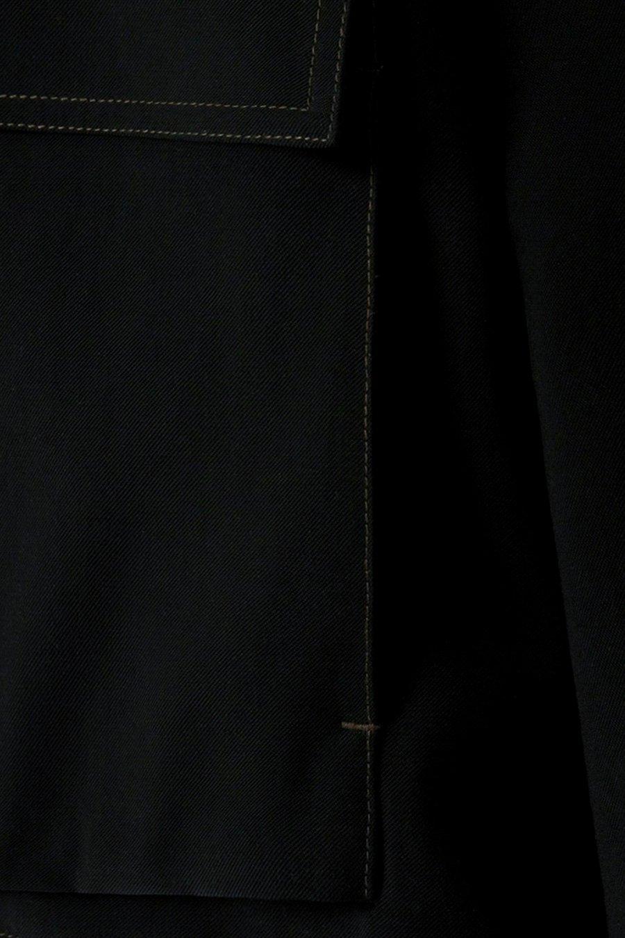 인사일런스(IN SILENCE) 드레이프 플라이트 블루종 BLACK