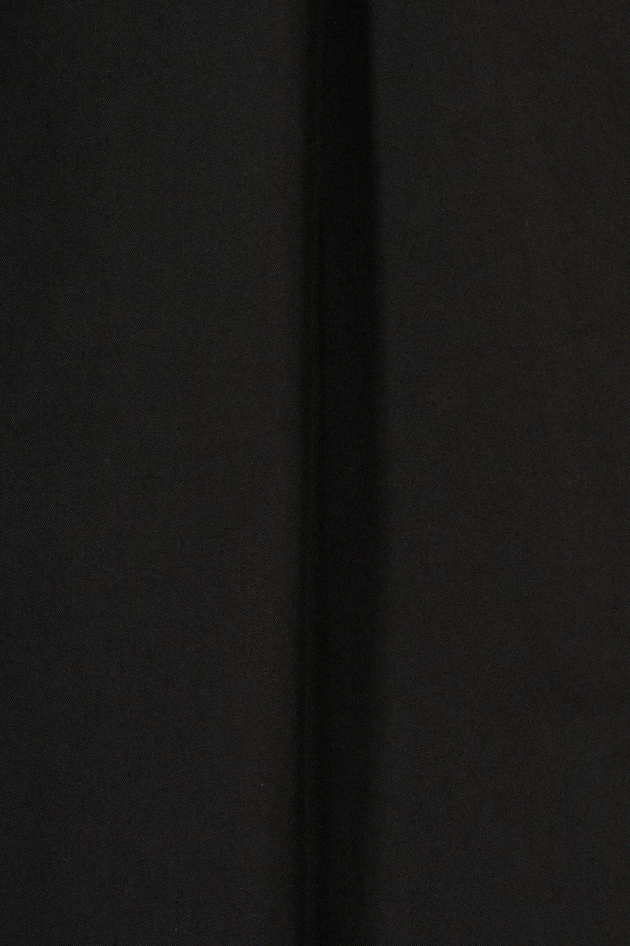 인사일런스(IN SILENCE) 벨티드 플리티드 팬츠 BLACK