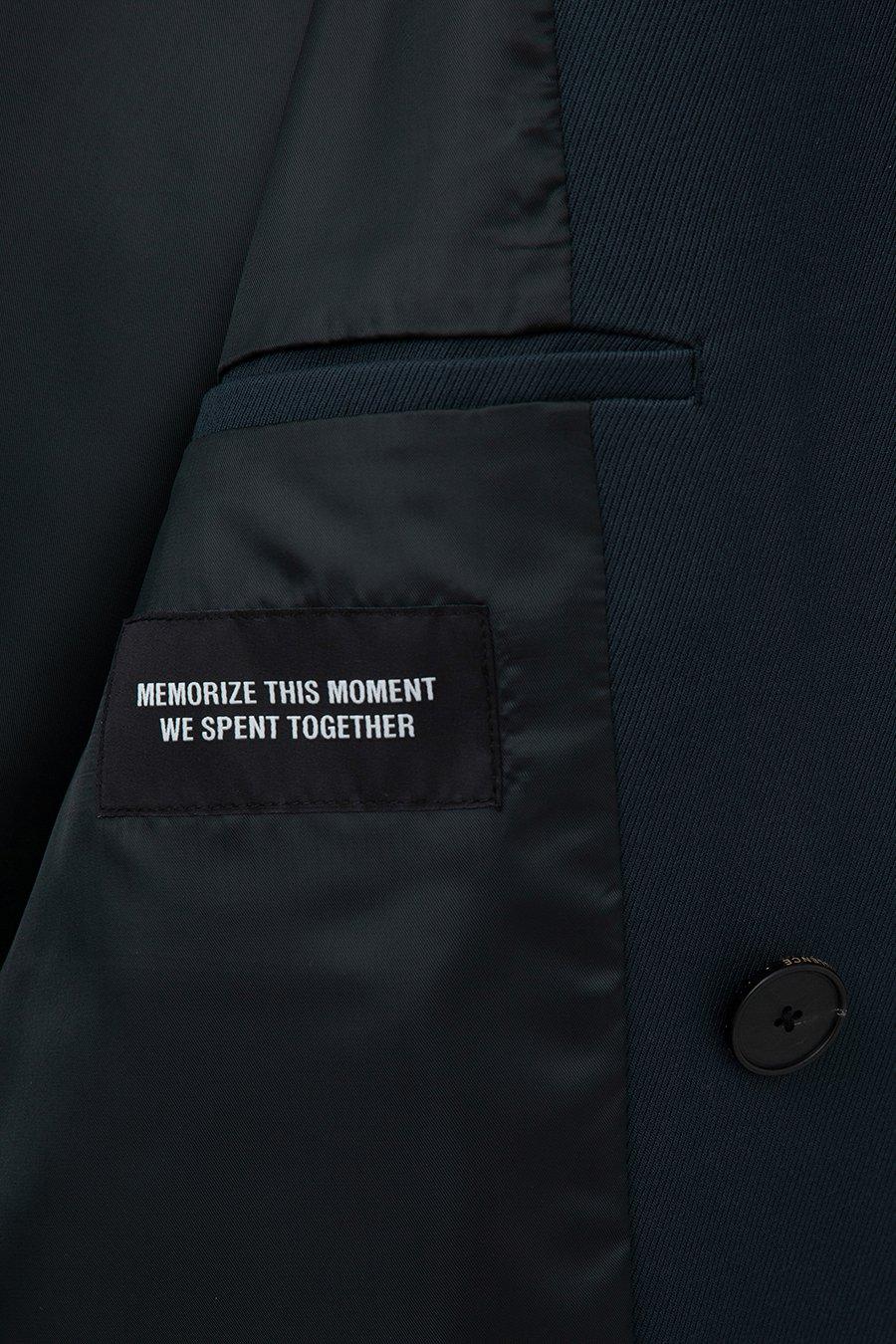 인사일런스(IN SILENCE) 울 블렌드 롱 트렌치 코트 MIDNIGHT BLUE