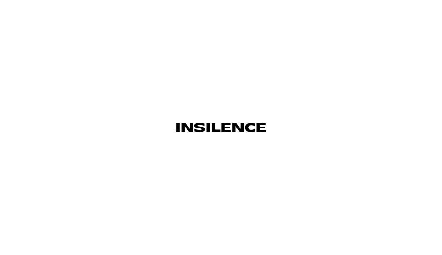 인사일런스(IN SILENCE) 미니멀 레더 벨트 BLACK