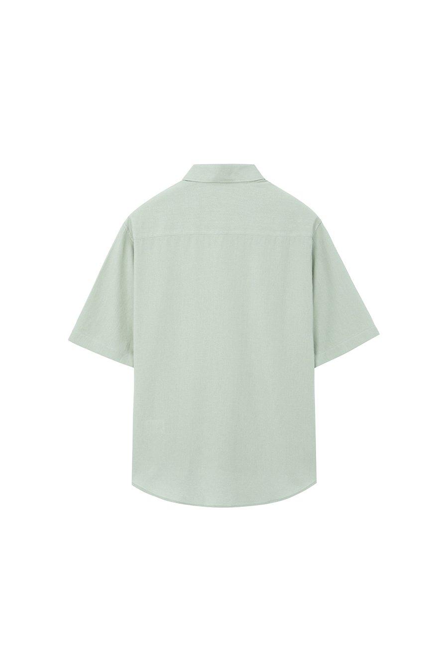 인사일런스(IN SILENCE) 린넨 셔츠 LIGHT GREEN