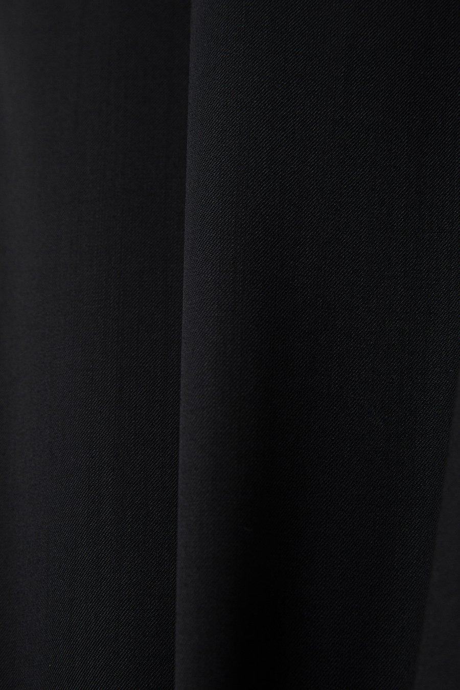 인사일런스(IN SILENCE) 워셔블 울 밴딩 슬렉스 BLACK