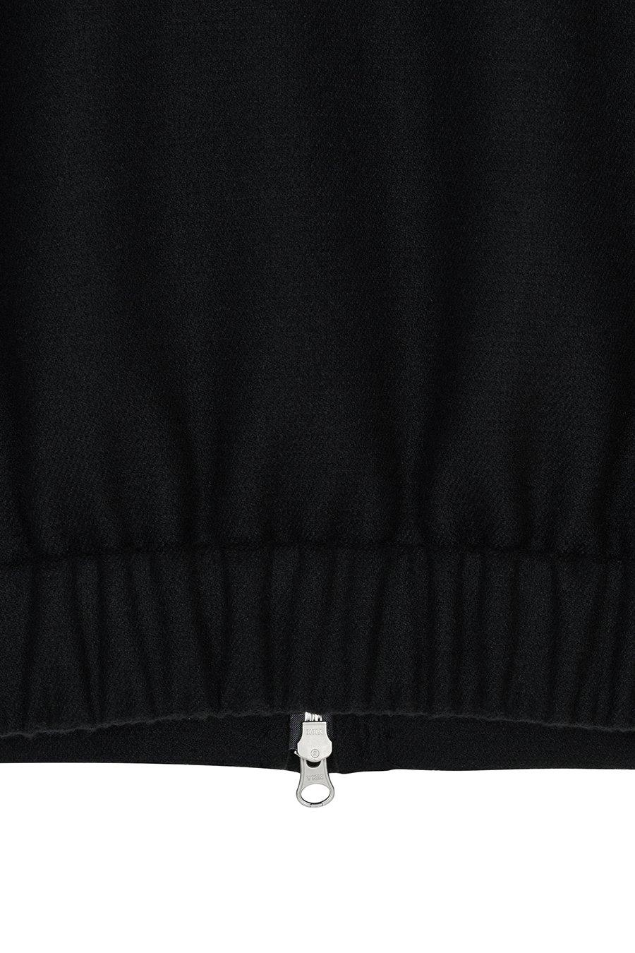 인사일런스 우먼(INSILENCE WOMEN) 퍼프 슬리브 울 블렌드 블루종 BLACK