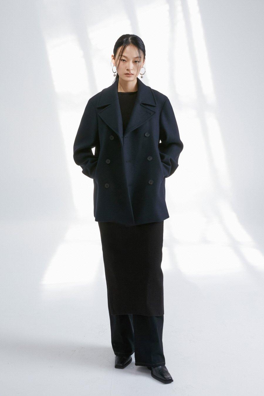 인사일런스 우먼(INSILENCE WOMEN) 보트넥 니트 롱 드레스 BLACK
