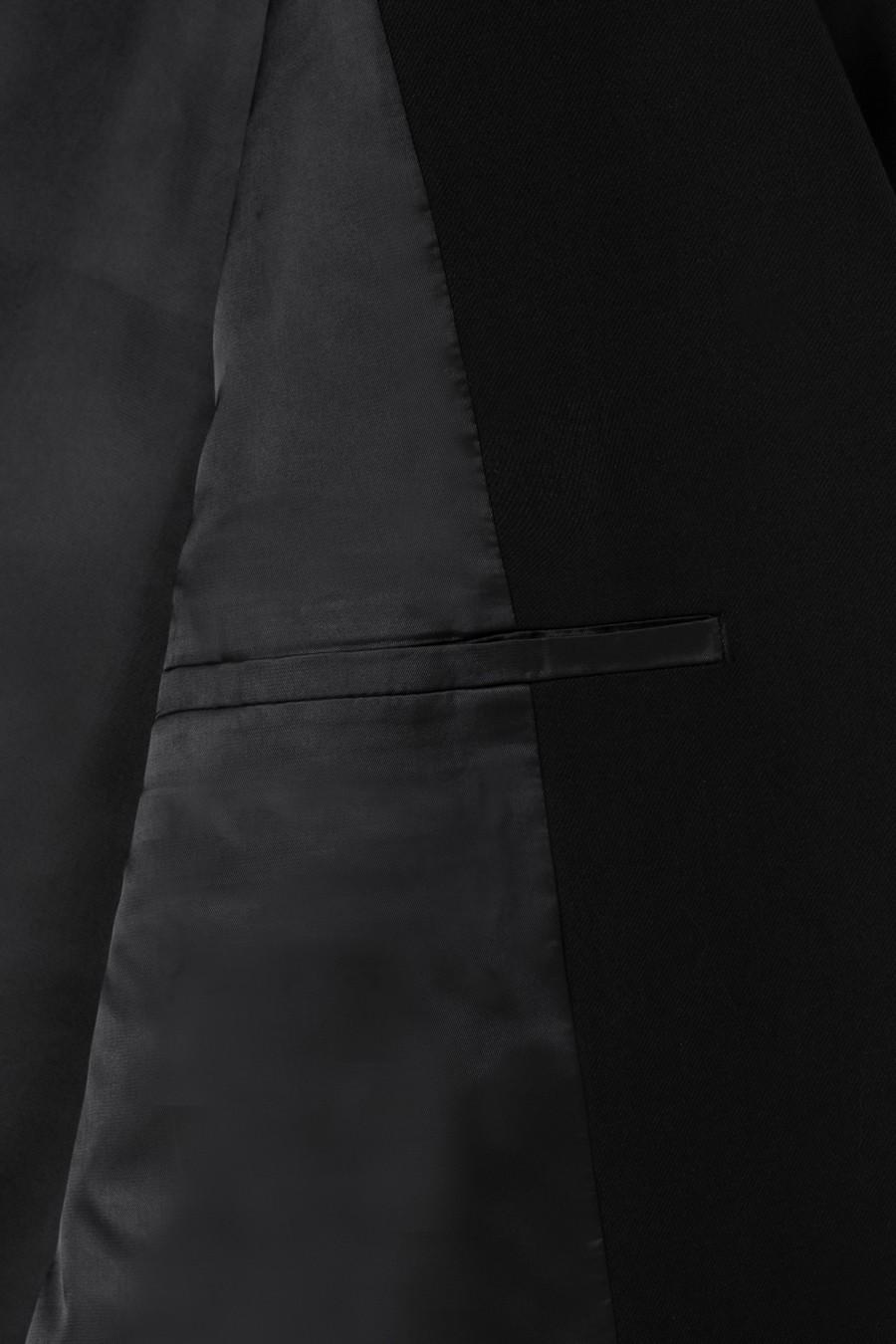 인사일런스(IN SILENCE) 오버사이즈 울 블레이저 BLACK