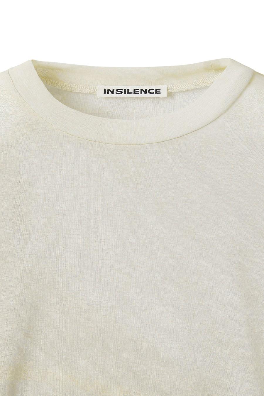 인사일런스 우먼(INSILENCE WOMEN) 그래픽 롱 슬리브 탑 BEIGE