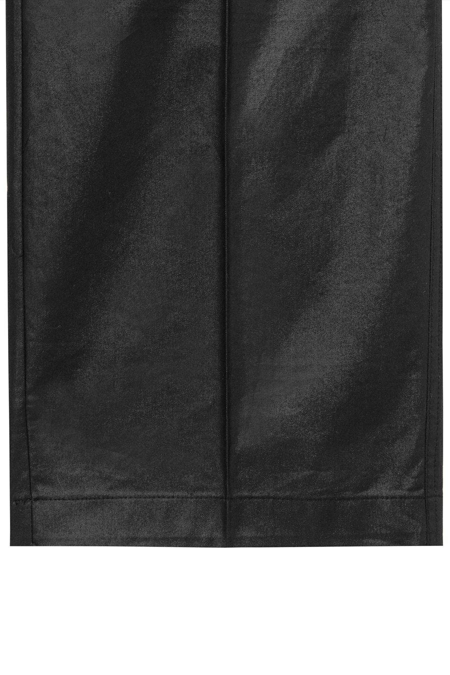 인사일런스(IN SILENCE) 코티드 코튼 세미와이드 팬츠 BLACK