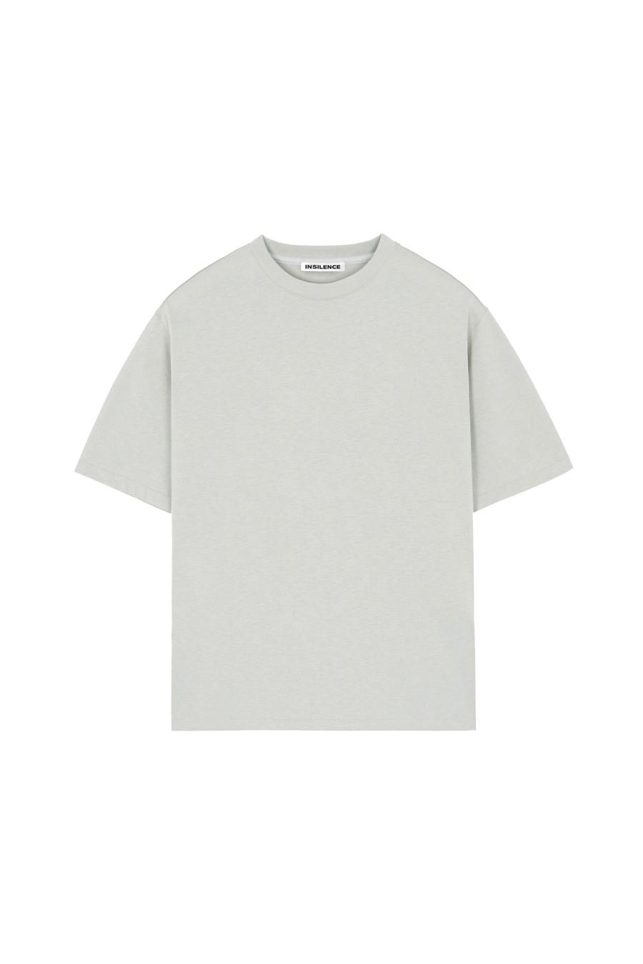 인사일런스(IN SILENCE) 수피마 코튼 프리미엄 티셔츠 MINT GREY