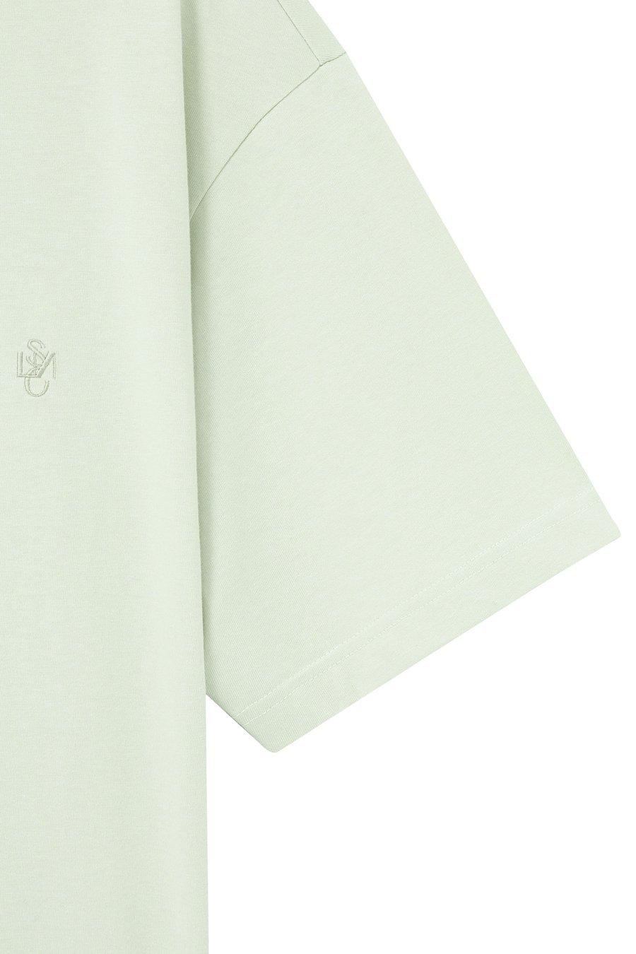 인사일런스(IN SILENCE) 엠브로이더리 로고 티셔츠 PASTEL MINT