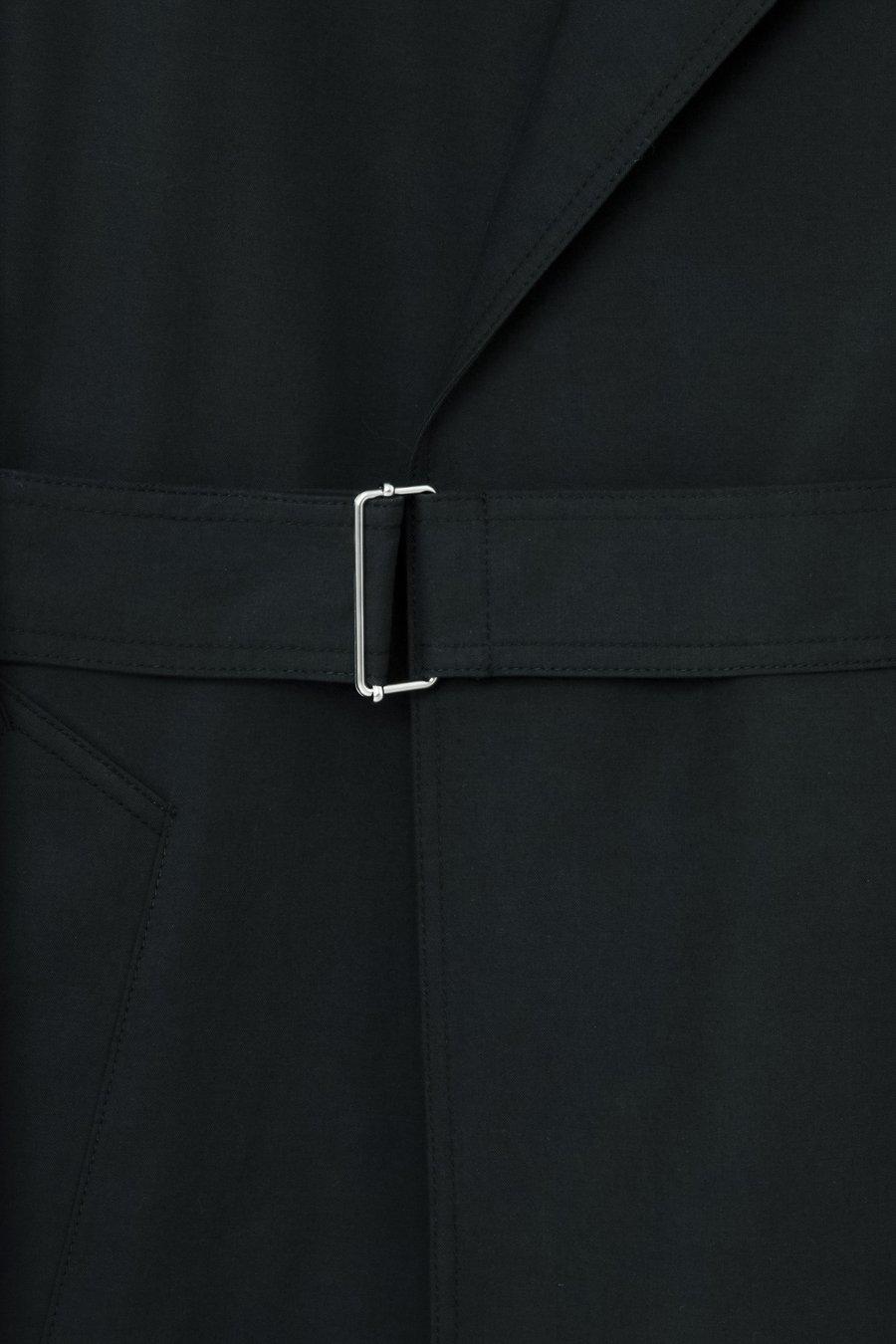 인사일런스(IN SILENCE) 텐셀 트렌치 코트 BLACK