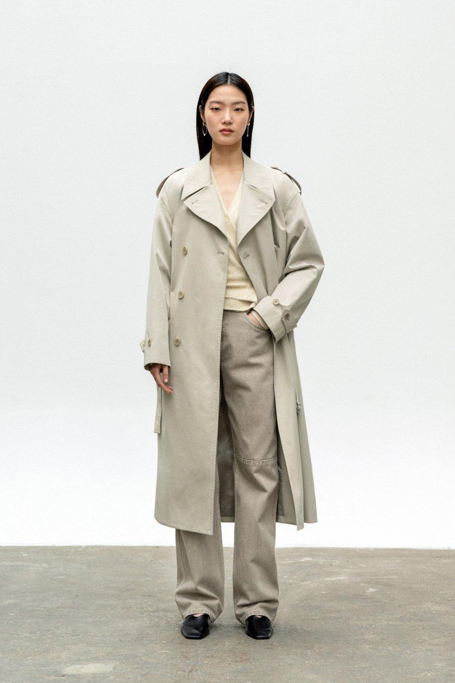 인사일런스 우먼(INSILENCE WOMEN) 오버사이즈 트렌치 코트 CREAM