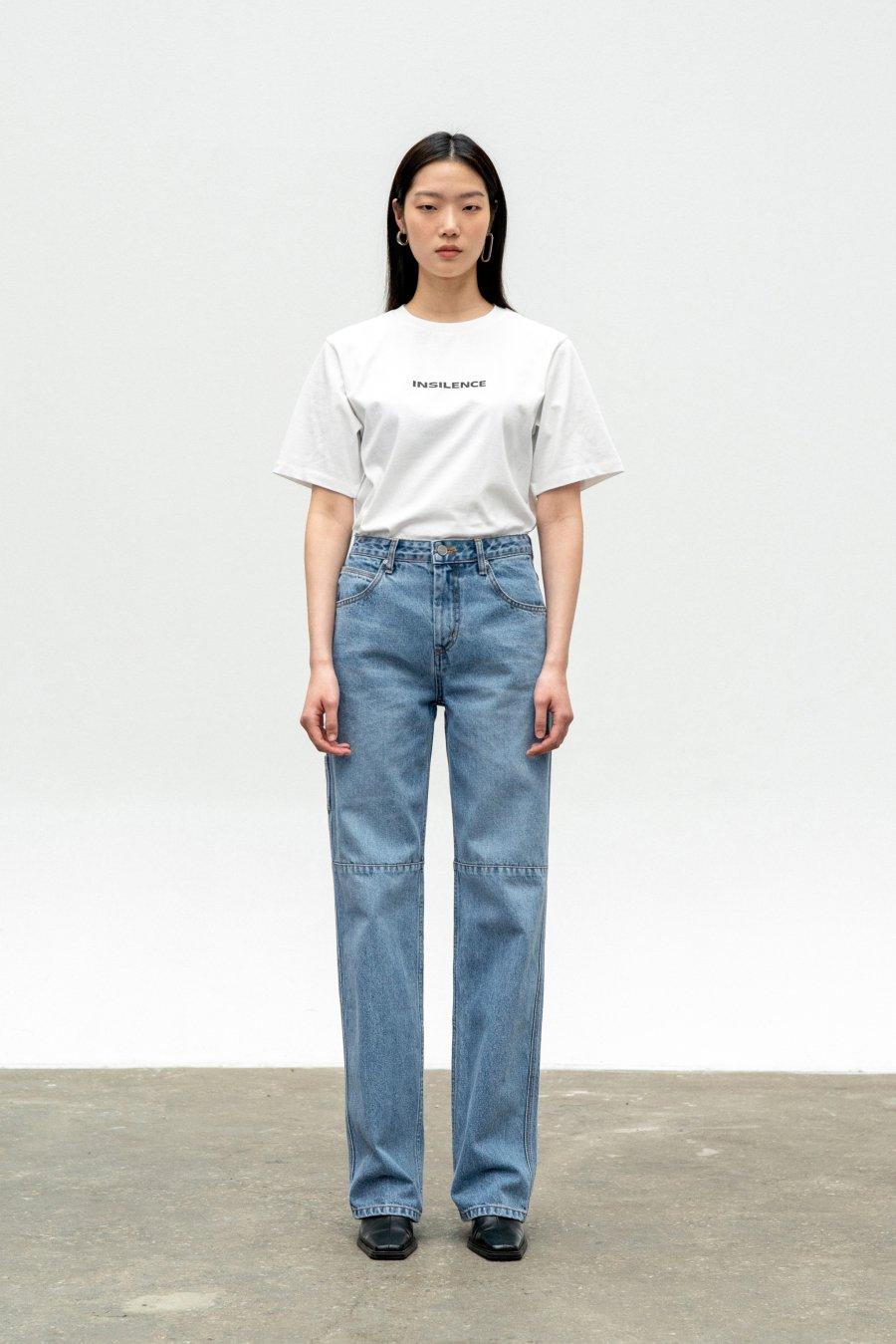 인사일런스 우먼(INSILENCE WOMEN) 로고 티셔츠 WHITE